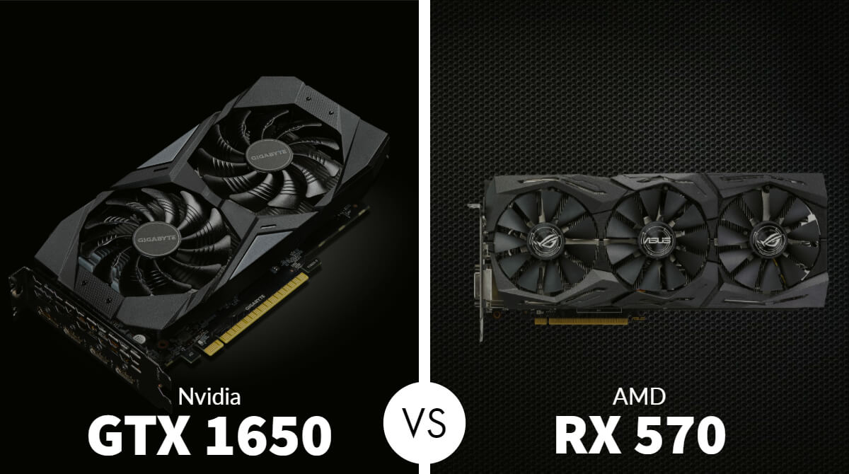 Nvidia GTX 1650 vs AMD RX 570
